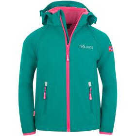 TROLLKIDS Rondane XT Zip Off Jacket Kids, smaragd/rubine